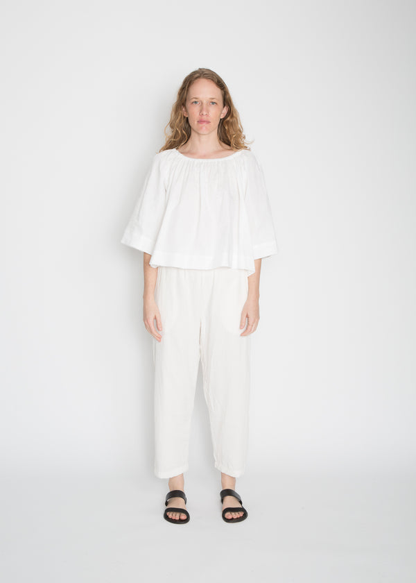 Ellis Top, Cotton Lawn in White