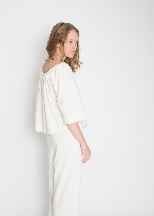 Ellis Top, Silk Noil in Natural