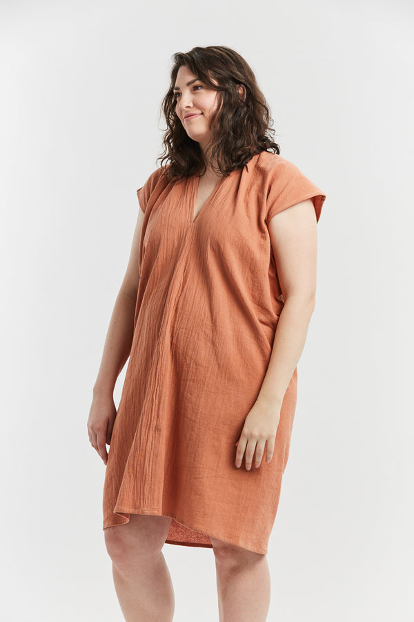 Everyday Dress, Textured Cotton in Taos