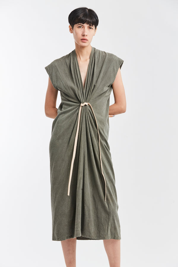 Knot Dress, Silk Noil in Florence