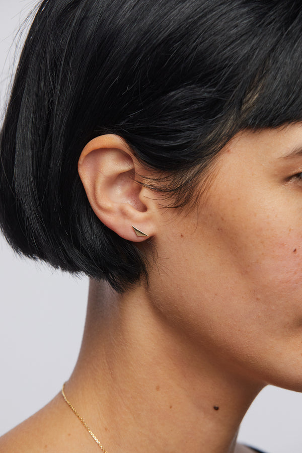 Plume Triangle Earring