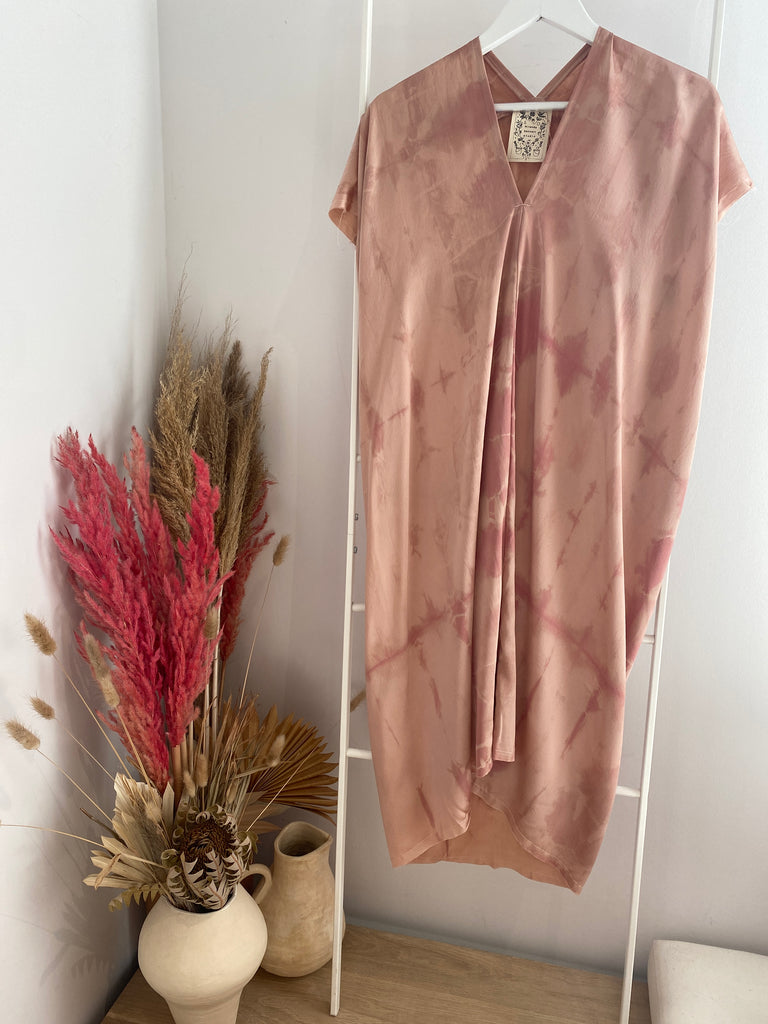 LIMITED EDITION: Everyday Dress, Silk Charmeuse in Bardot Overdye V.3