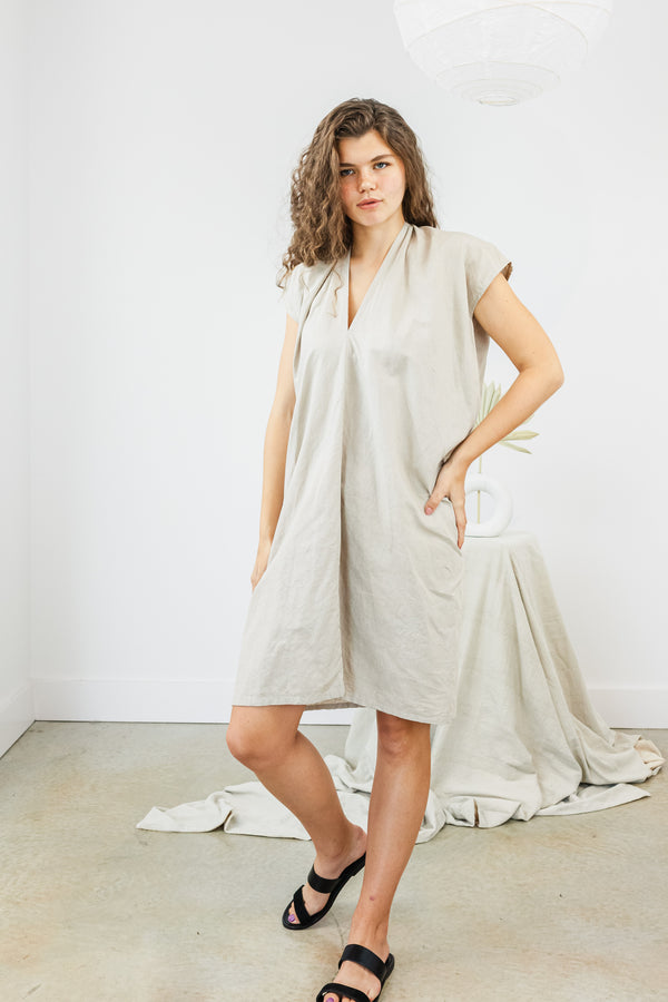 Everyday Dress Linen in Isla