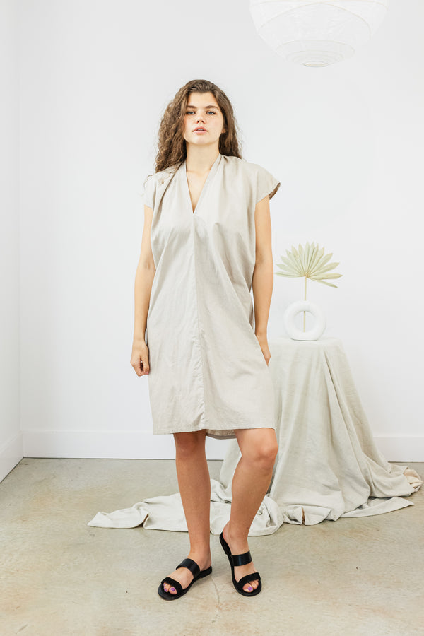 Everyday Dress, Cotton Linen in Isla