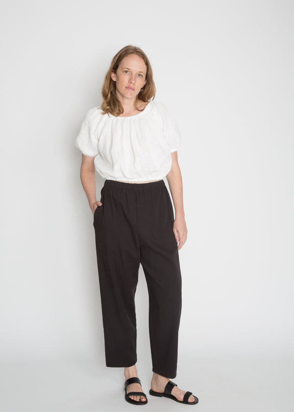 Hadid Pant, Cotton Lyocell in Black