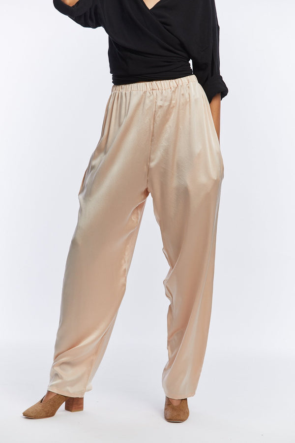 Hadid Pant, Silk Charmeuse in Lennon
