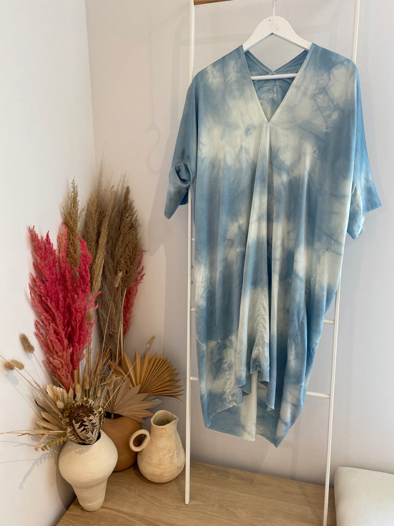 Muse Dress, Silk Charmeuse in Overdye FINAL SALE