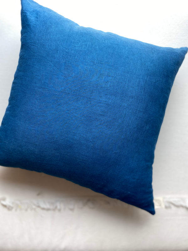 Pillow, Linen Square in Indigo