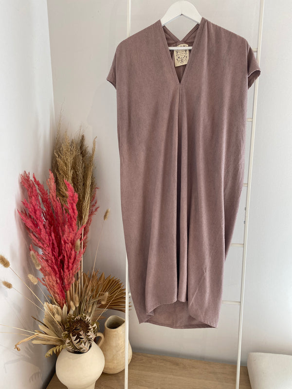 Everyday Dress, Silk Noil in Rambler
