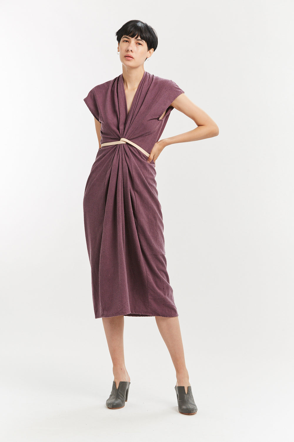 Rare Breed Collection: Knot Dress, Silk Noil in Lira