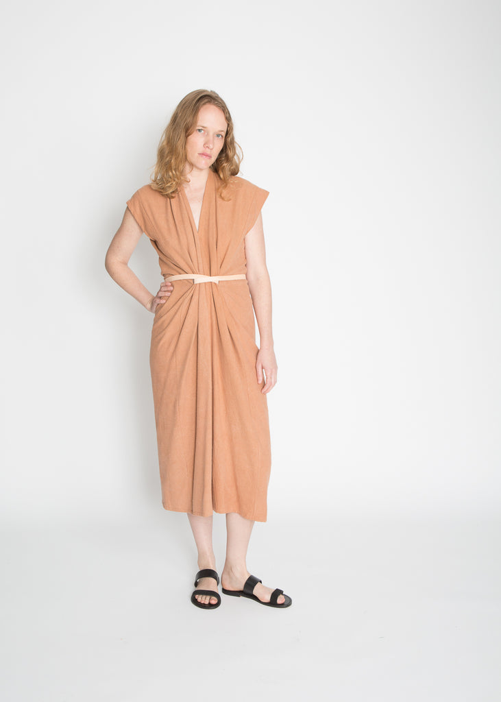 Knot Dress, Silk Noil in Mesa