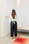 Petite Hadid Pant, Linen Blend in Black
