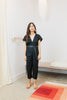 Petite Everyday Jumpsuit, Silk Noil in Black