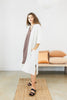 Bardi Duster, Textured Cotton in White