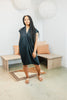 Petite Everyday Dress, Linen Blend in Black
