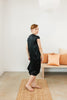 Petite Everyday Dress, Silk Charmeuse in Black