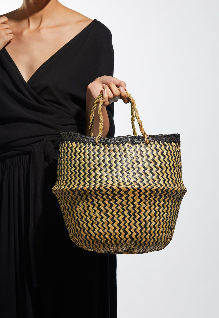 Xinh & Co Basket, Noir Stripes