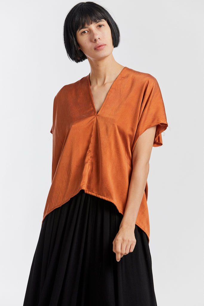 Everyday Top, Silk Charmeuse in Acacia