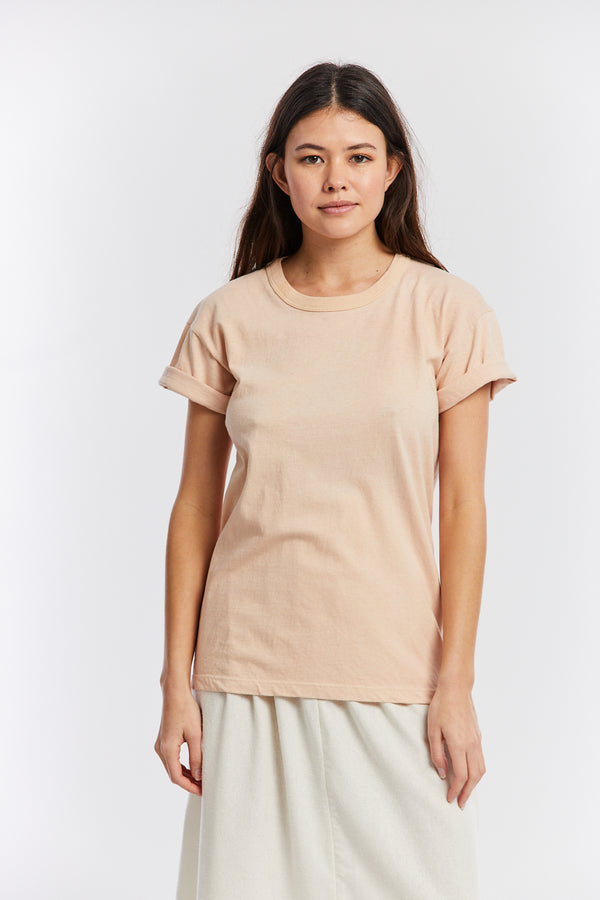 MBS Organic Cotton T-Shirt, Naturally Dyed in Pecan