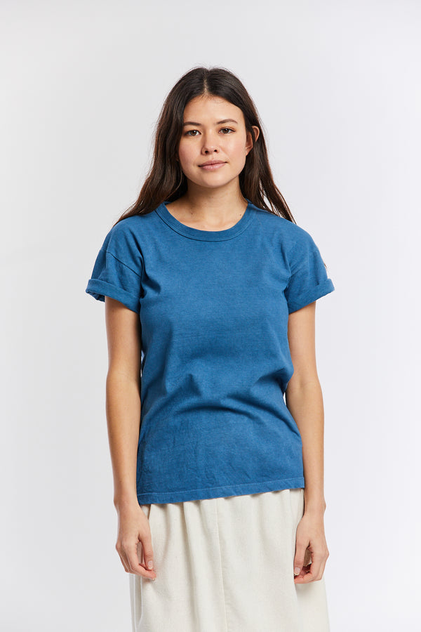 MBS Naturally Dyed T-Shirt, Organic Cotton in Indigo