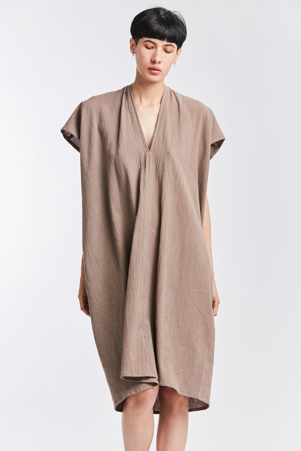 Everyday Dress, Textured Cotton in Faroe