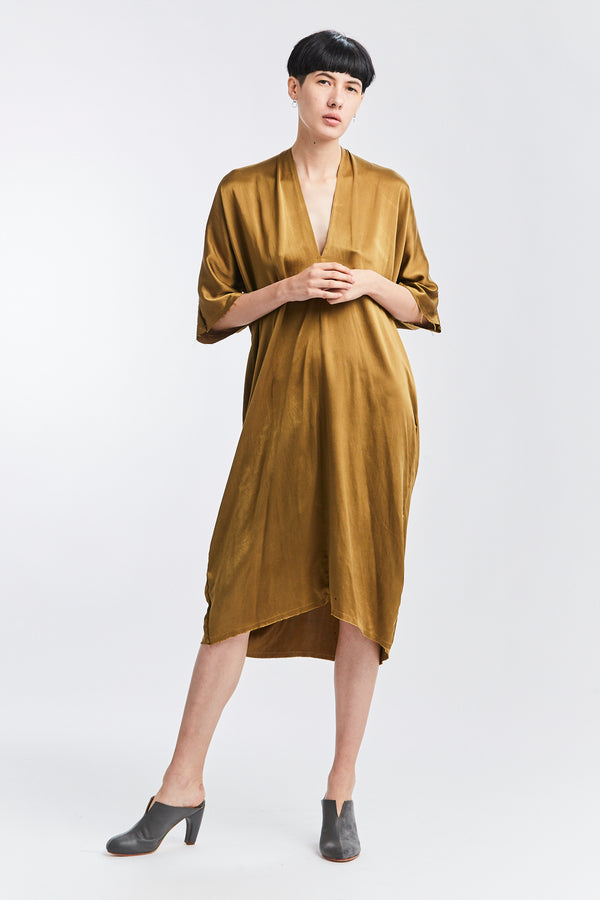 Muse Dress, Silk Charmeuse in Nile