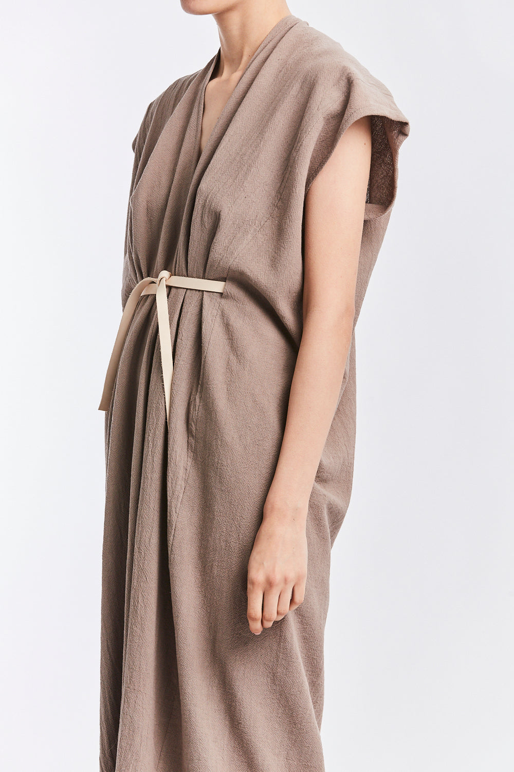 Knot Dress, Textured Cotton in Faroe