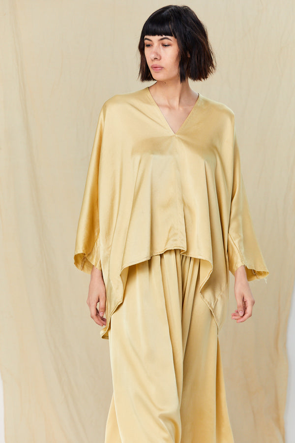 Muse Top, Silk Charmeuse in Sumatra