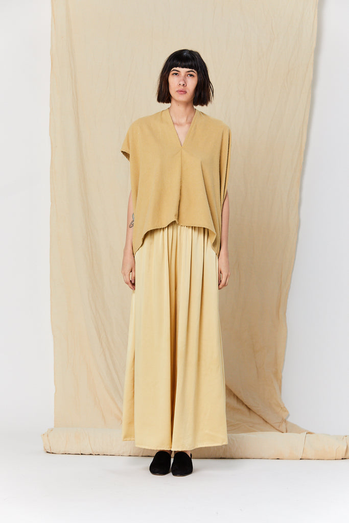 Everyday Top, Silk Noil in Palomino FINAL SALE