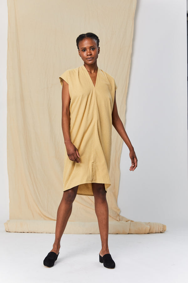 Petite Everyday Dress, Silk Noil in Palomino