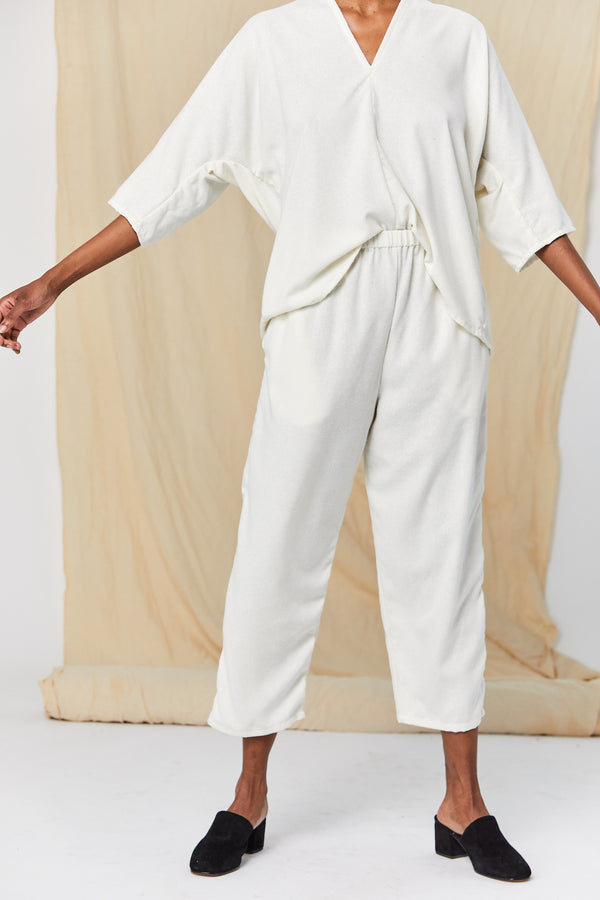 Hadid Pant, Silk Noil in Natural