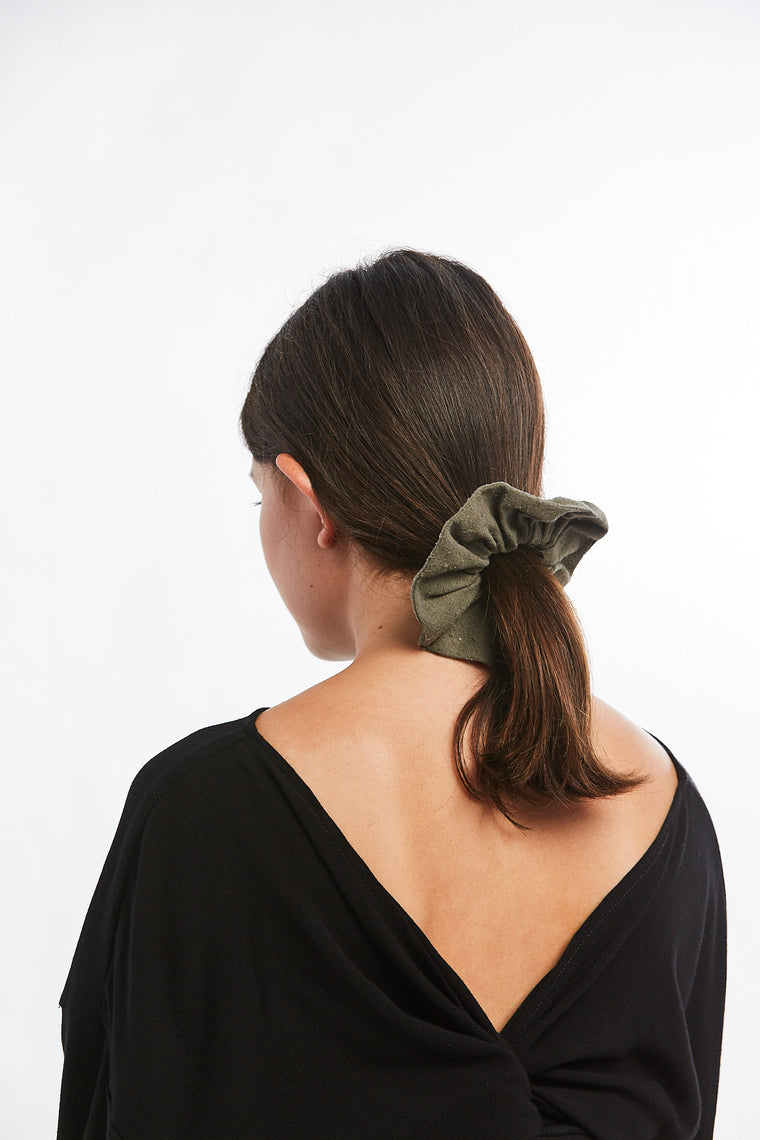 MBS x Winden Zero Waste Scrunchie, Silk Noil in Savannah