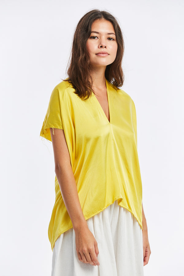 Everyday Top, Silk Charmeuse in Cruz