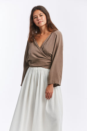 Wrap Top, Rayon in August