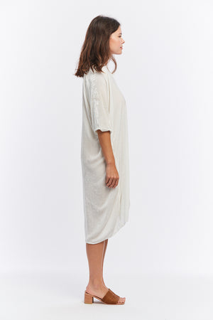 Muse Dress, Velvet in White