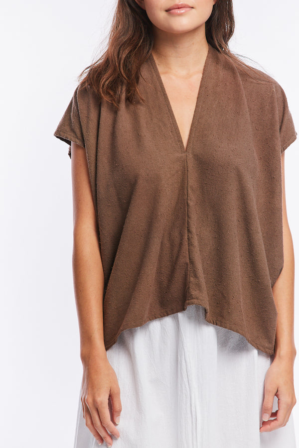 Petite Everyday Top, Silk Noil in Odessa FINAL SALE