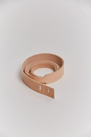 Leather Loop Belt, Natural