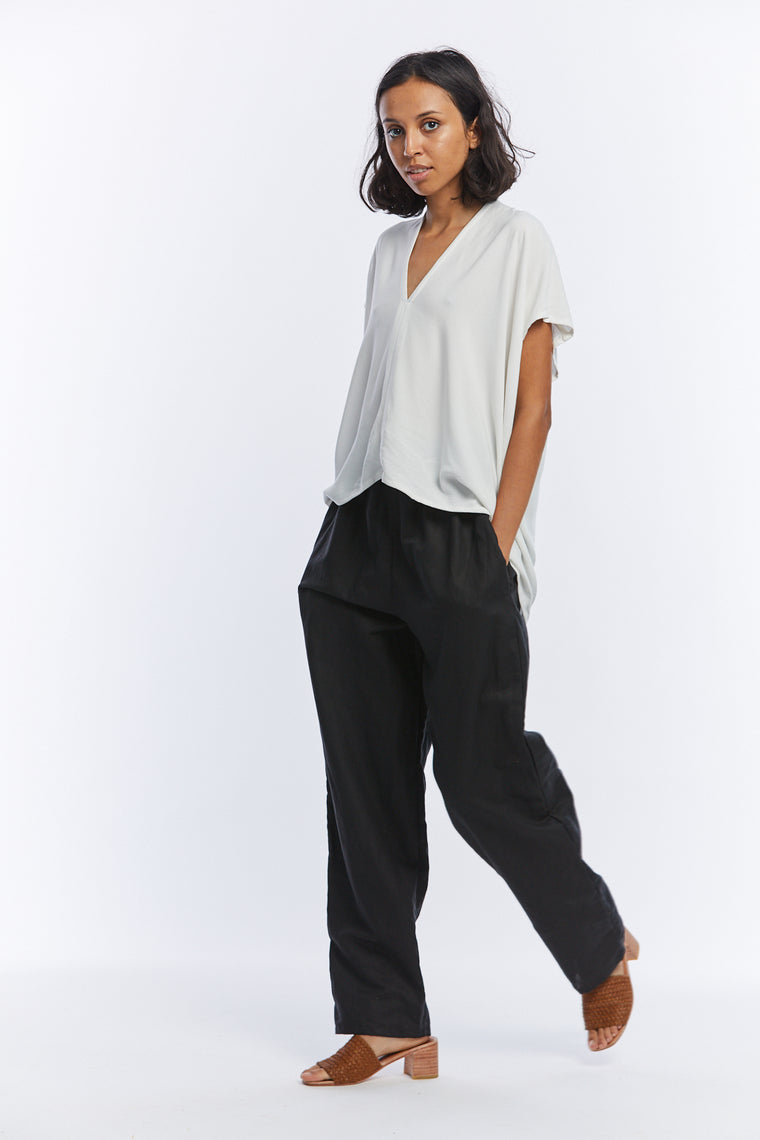 Hadid Pant, Linen in Black