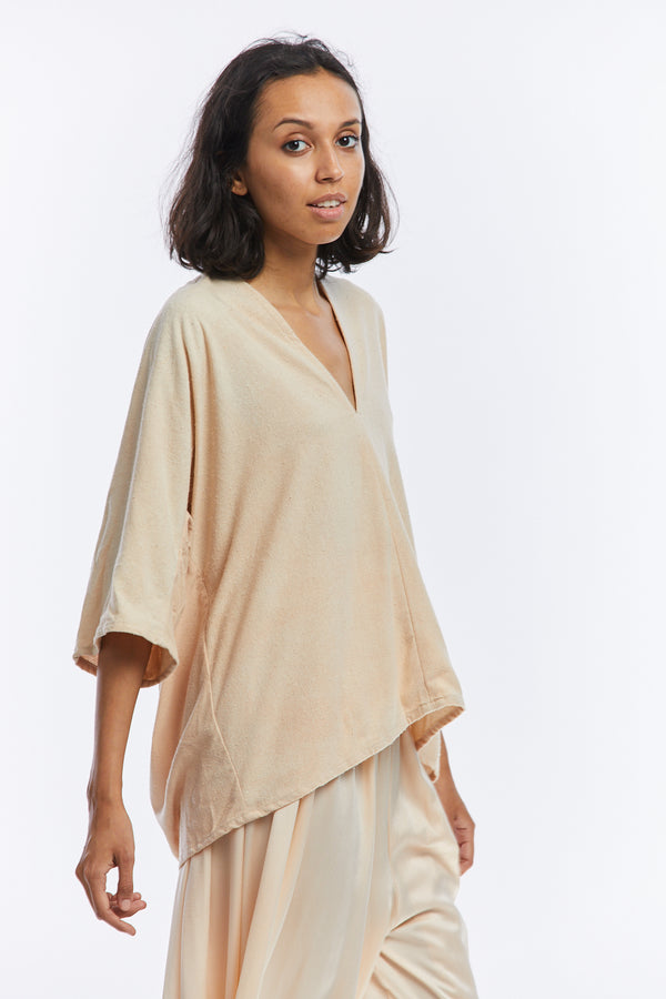 Muse Top, Silk Noil in Lucien