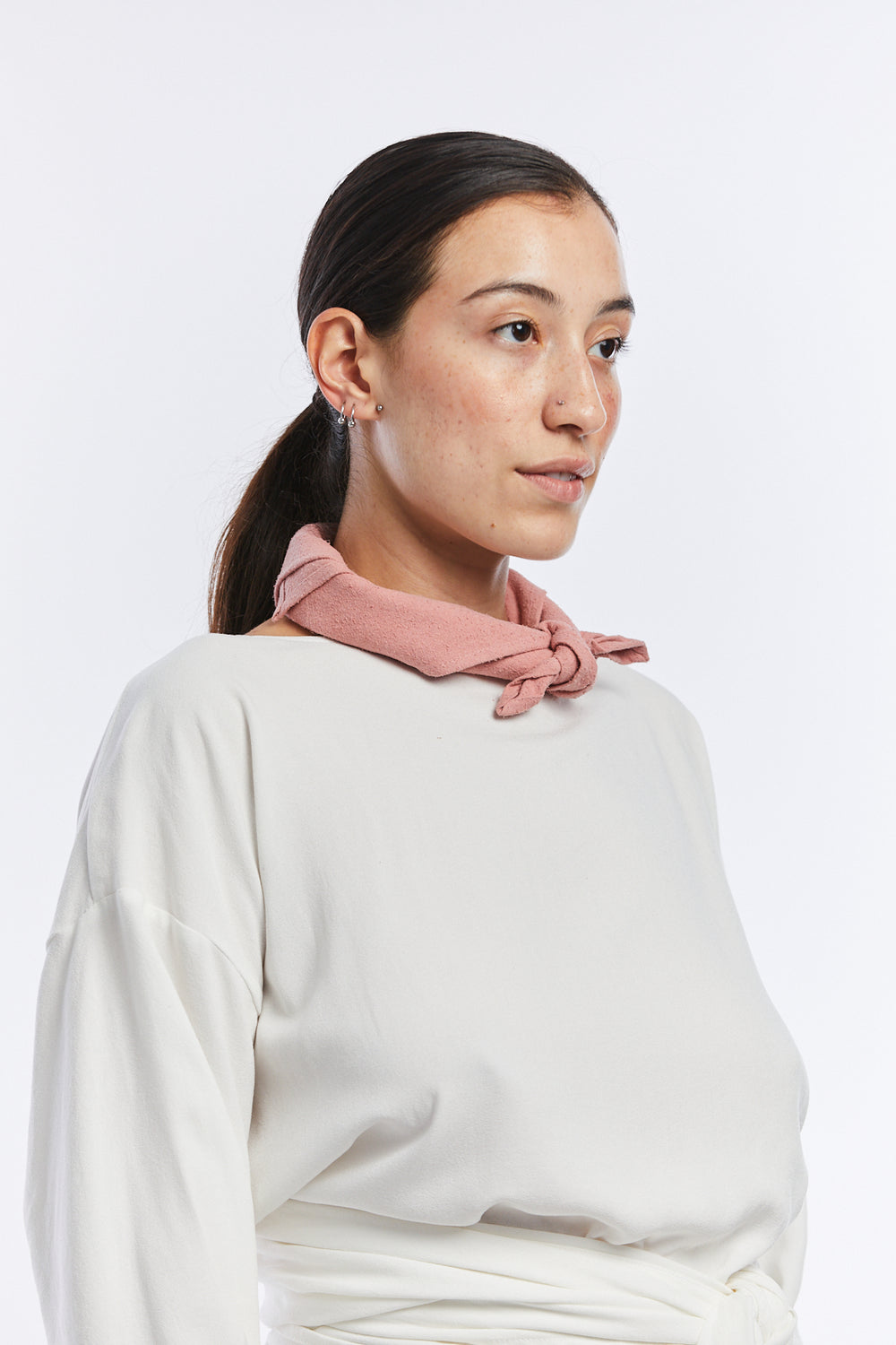 Neckerchief, Silk Noil in Nico