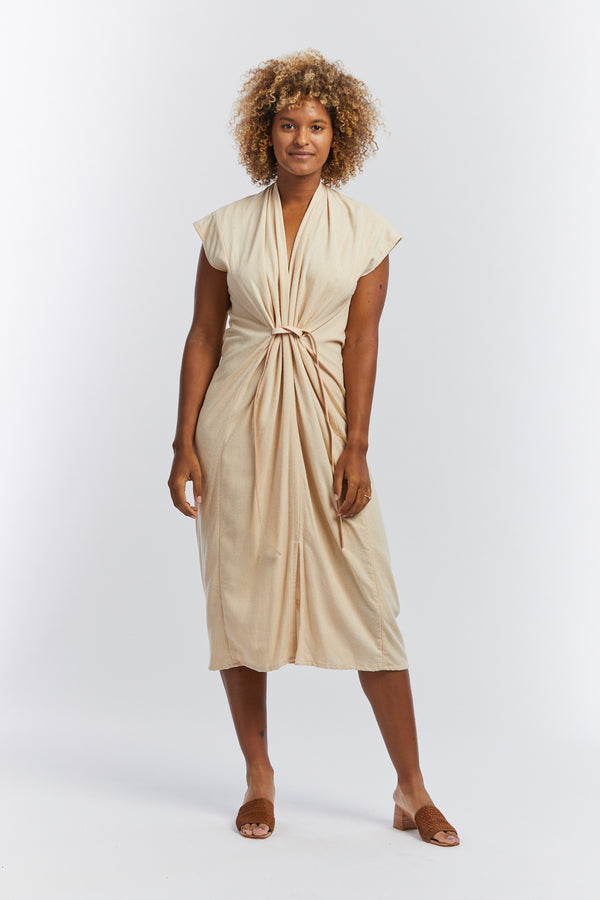 Knot Dress, Silk Noil in Lucien