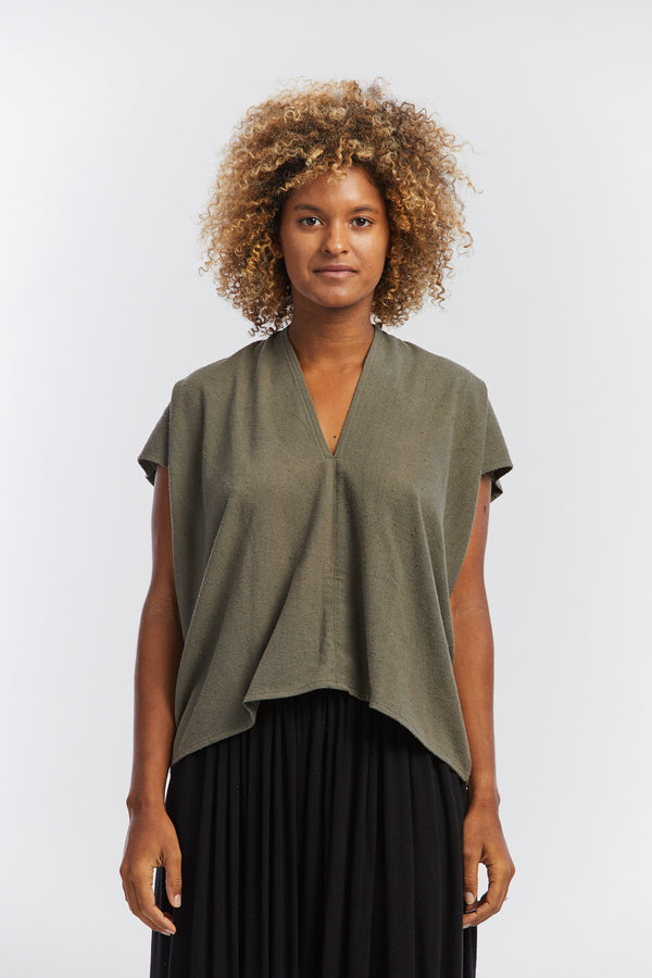 Everyday Top, Silk Noil in Florence