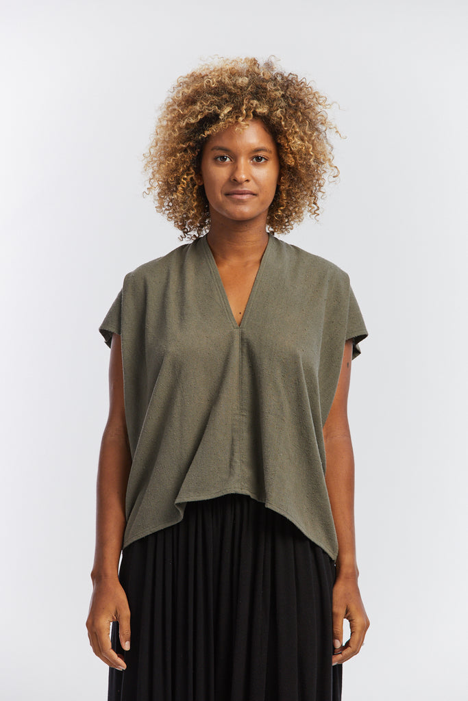 Everyday Top, Silk Noil in Florence FINAL SALE