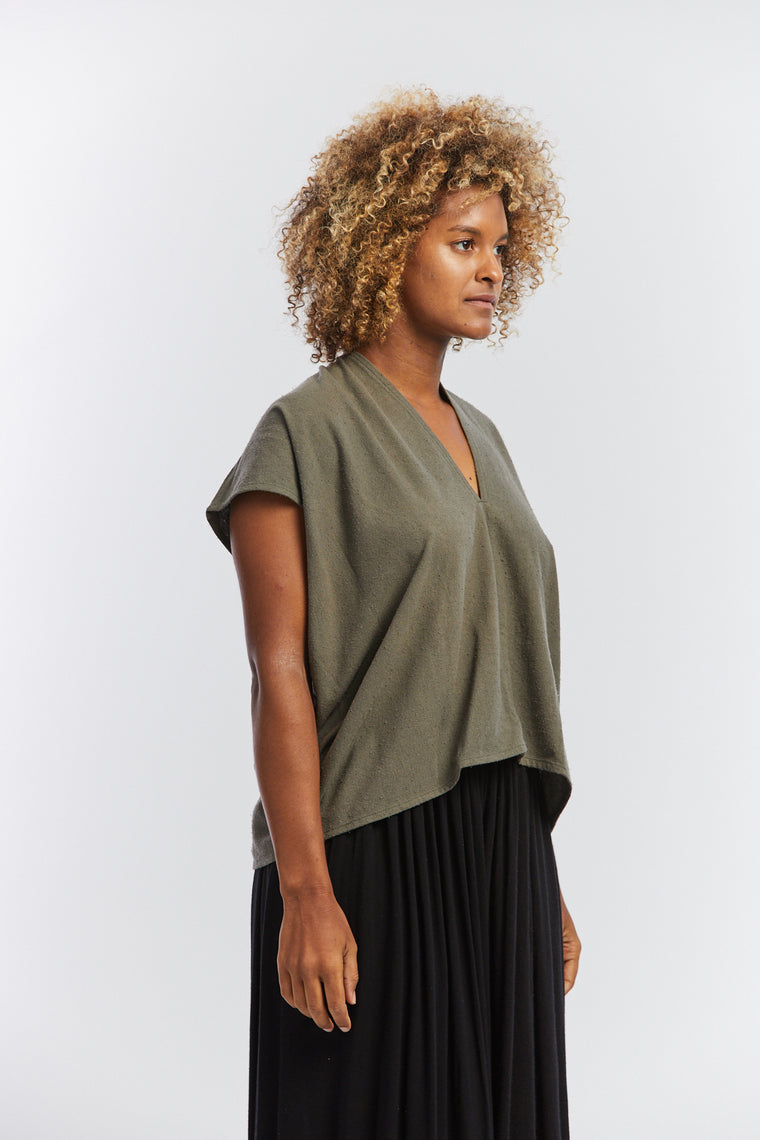 In-Stock: Ed. VIII Everyday Top, Silk Noil in Savannah
