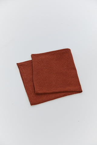 MBS Pocket Square, Silk Noil in Painted Rock