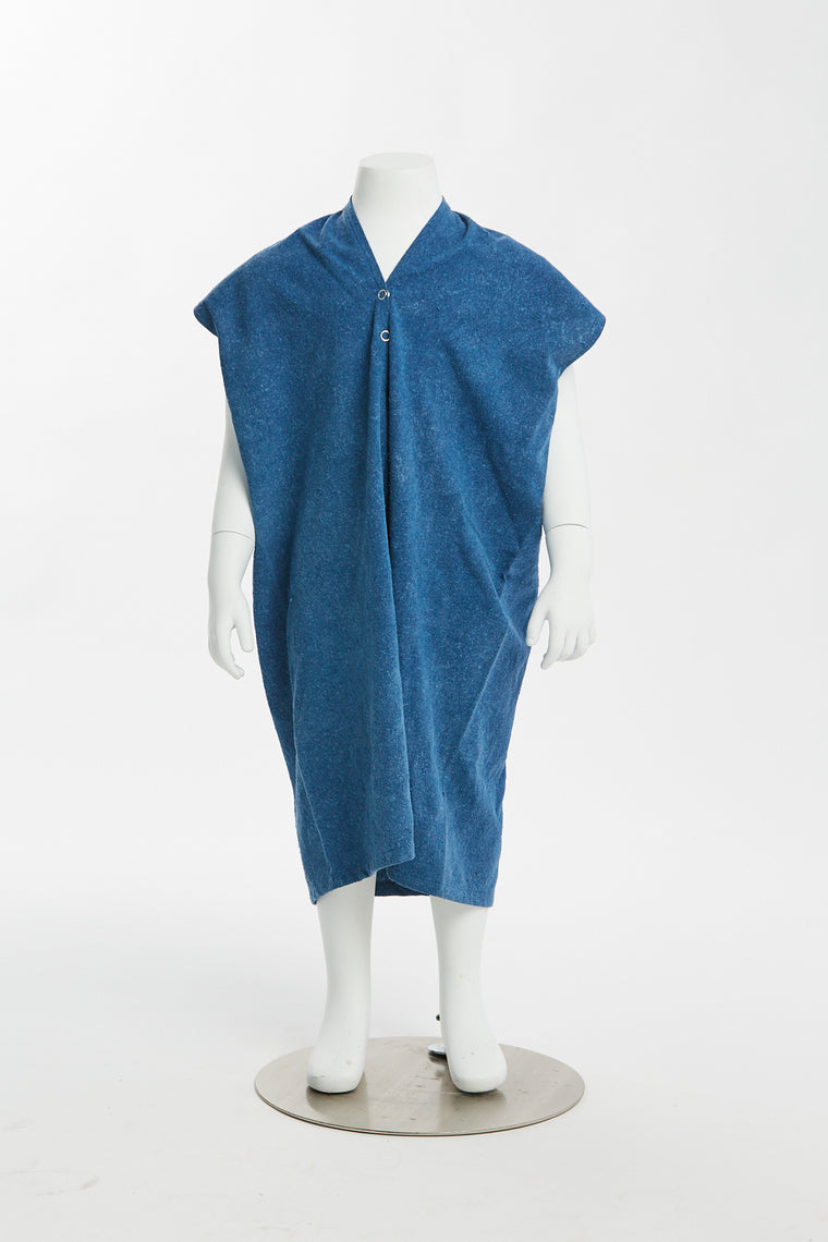 Zero Waste Kid's Everyday Dress, Silk Noil in Indigo