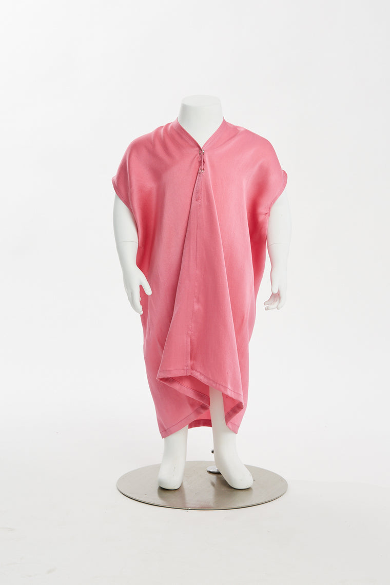 Zero Waste Kid's Everyday Dress, Silk Charmeuse in Madrid