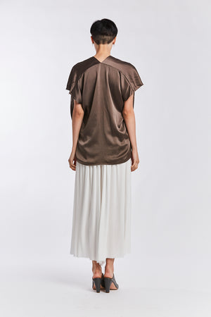 Everyday Top, Silk Charmeuse in Badlands
