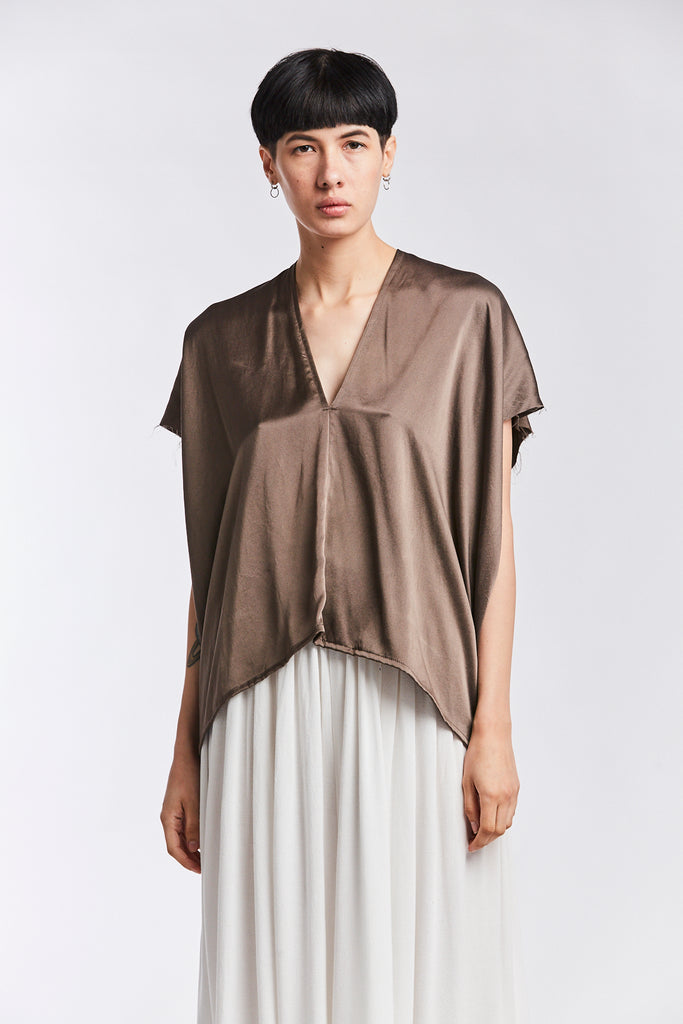 Everyday Top, Silk Charmeuse in Badlands FINAL SALE