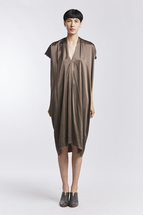 Petite Everyday Dress, Silk Charmeuse in Badlands